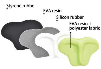 The cushion is a quadruple structure with a cushioning feature, and the silicon material and soft fabric are comforting.