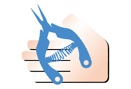 手柄易于抓握和防滑,可减少疲劳并使其易于握持,从而提高了工作效率。